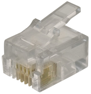 Modular Plug RJ11 Flat Cable,6P4C  Unshielded