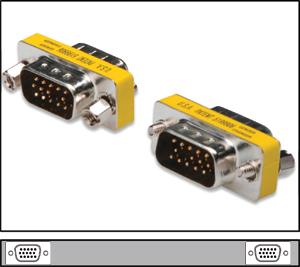 Mini Gender Chan.HD15STST,HD DSUB 15-pin STECKER-STECKER