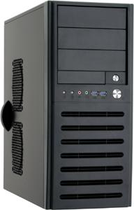 PC Gehäuse Midi Tower Ohne NT.,schwarz,USB 3.0, Audio