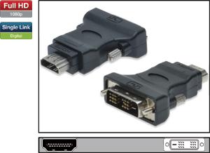 Adapter HDMI A BU DVI D ST,HDMI A Buchse DVI-D Stecker