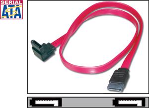 SATA Kabel   0,75m,Anschlusskabel left angled