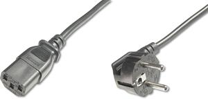 Power C.Schuko 90°- C13  5,00m,M/F,5.00m, H05VV-F3G 1.0qmm,