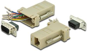 Modular Adapter DS09STRJ45,D-Sub Stecker  09pol.  RJ45