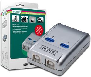 USB Sharing Switch  2E1A,2 PCs-1 USB Endgerät USB 2.0