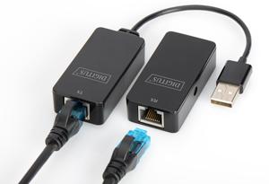 Extender USB über Cat.5/5e/6,bis zu 50m, USB 2.0