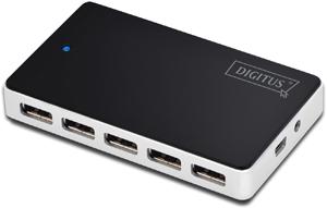 USB Hub 10PORT USB 2.0,Inkl.5V/4A Netzteil