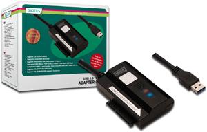 Adapter USB 3.0 auf SATA II,Inklusive Netzteil 12V,2A