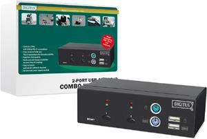 KVM SWITCH 2 Port PS2/USB,PS2 u. USB Support