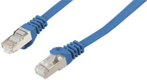Patchk.Cat.6a U-FTP 7,5m Blau,FLAT, AWG 30, PVC