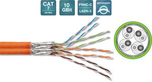 Verlegekabel CAT.7  S/FTP Dup.,2x4x2xAWG23/1, LSOH-3, 100m