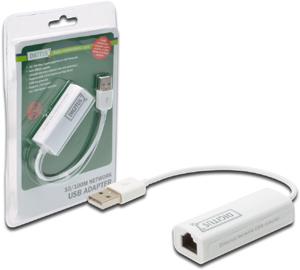 USB2.0 Ethernet Adapter,USB A ST  RJ45 BU