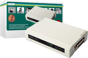 Printserver 3Port USB+Parallel,10/100MB, 2xUSB2.0, 1xDSUB