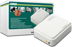 Printserver WLAN 1xUSB2.0,Scan-Print-FTP Support, 54Mbps