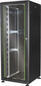 19\ Schrank 42HE Glastür T 800,H2053 x B800 x T800 mm RAL9005