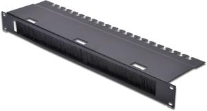 Durchführungspanel 1HE Schwarz,(HxBxT) 44,483,124 mm