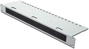 Durchführungspanel 1HE Grau,(HxBxT) 44,483,124 mm