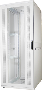Serverschrank 42HE Glastür,H1955x B800 xT1000 mm RAL7035