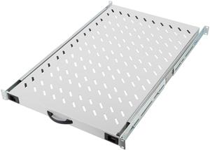 Fachboden 1HE T  720mm Grau,1HE, max.65kg, ausziehbar