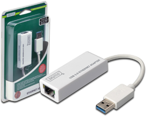 USB3.0 Ethernet Adapter Giga,USB-A Male, 10/100/1000MBIT