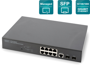 Switch  8x1GBIT 2xSFP Managed,2x1GBIT SFP Port inkl.19 Kit