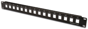 Patchpanel Modular 16port 1HE,19\ 1HE, RAL9005, unshielded