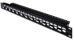 Patchpanel Modular 24port 1HE,19 1HE, RAL9005, shielded v.