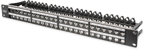 Patchpanel Modular 48port 1HE,19 1HE, RAL9005, shielded