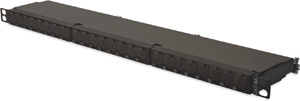 CAT.6a  Patchpanel, 24xRJ45,19 0.5 HE, RAL9005,LSA 10GBit