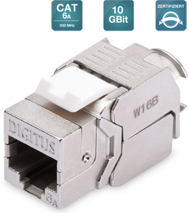 Keystone Jack CAT.6a RJ45 STP,Toolless, Re-Embedded