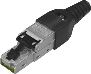RJ45 Stecker für Verlegekabel,AWG 22-27, 10Gbit, PoE+