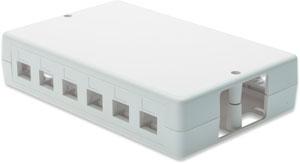 Aufputzbox für Keystone Jacks,RAL9010, 6Port