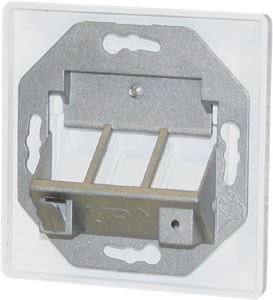 Keystone Jack Rahmen 3 port,Reinweiß, 80x80,45Grad