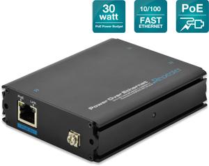 Fast Ethernet PoE+ Verstärker,1Eingang - 2 Ausgänge