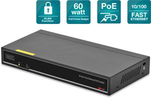 POE Switch  8x10/100,mit VLAN Funktion