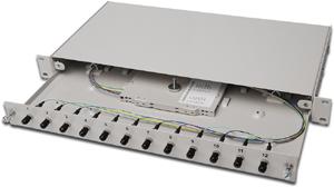 LWL Box ST 12 OM2 Bestückt,12xST (12 Fasern) MULTIMODE
