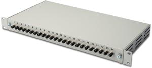LWL Box ST 24 OM2 Bestückt,24xST (24 Fasern) MULTIMODE