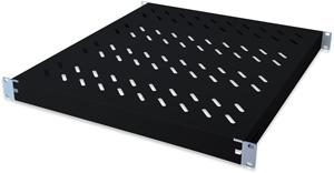 Fachboden 1HE T  525mm Schwarz,für 800mm Schränke, max. 50kg