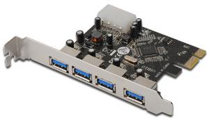 PCI Express USB 3.0  4 Port,4 x USB 3.0, VL800 Chipsatz
