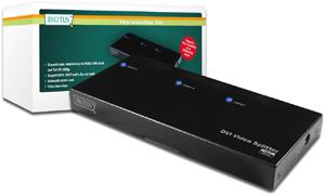 DVI Splitter 1xPC2xMonitor,Aufl. max.1920x1200, + Audio