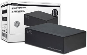 VGA Splitter 4 Fach 350MHz,Max. Auflösung 2048x1536