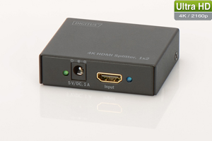HDMI Splitter 2-Port, 4K,Aufl.max.4096x2304, 3D Support
