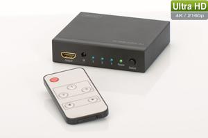 HDMI Switch 3-Port, 4K,4096x2160, inkl. Fernbedienung