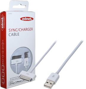 iPod Daten-/Ladekabel 1m,USB AApple Dock Stecker