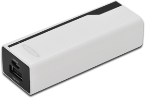 Power Bank  2.200mAh, Weiß,Led Status Anzeige