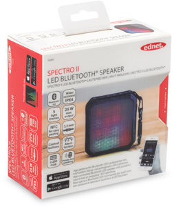 Speaker Spector II LED Bluet.,4W, BT 4.0, NFC, 2.200mAh Akku