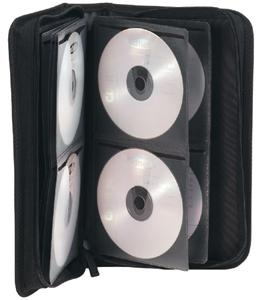 CD Tasche für  96 CD/DVDs,Nylon, Schwarz