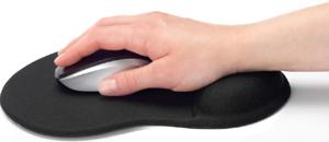 Mouse Pad mit Gelauflage,Farbe: Schwarz