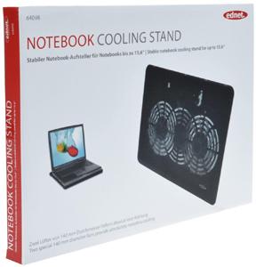 Notebook Kühler, bis zu 15,6,2x 140mm Lüfter, schwarz