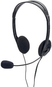 Stereo Headset 1,8m Kabel,3,5mm Stecker, Lautstärken R.