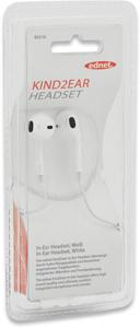 Stereo Earphones KIND2EAR,mit Mikrofon, Weiß, 1,2m Kabel